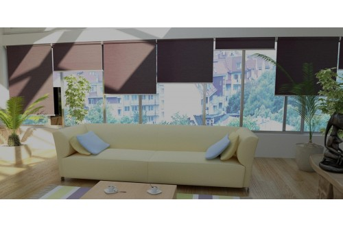 Roller Shades Wood Look