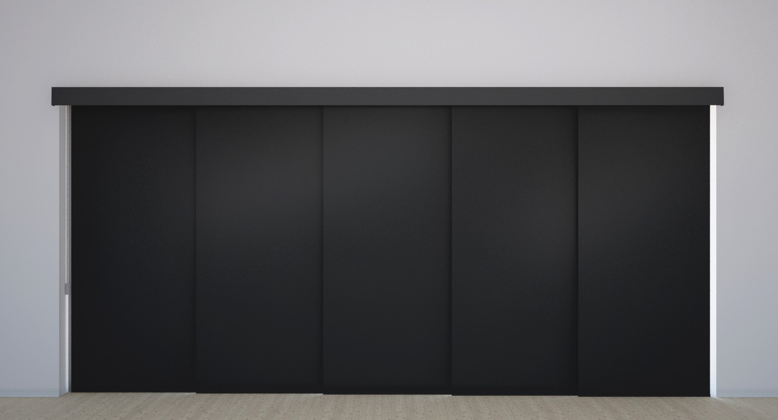 Panel Track Vinyl Blackout Blinds