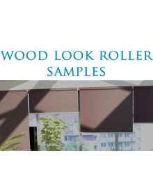 Wood Look Roller Shade SAMPLES