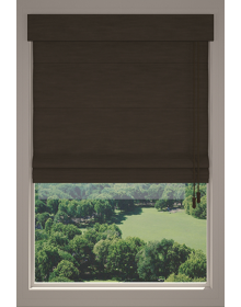 Roman Shades Wood Look Fabric